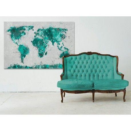 Mapa świata w brązach