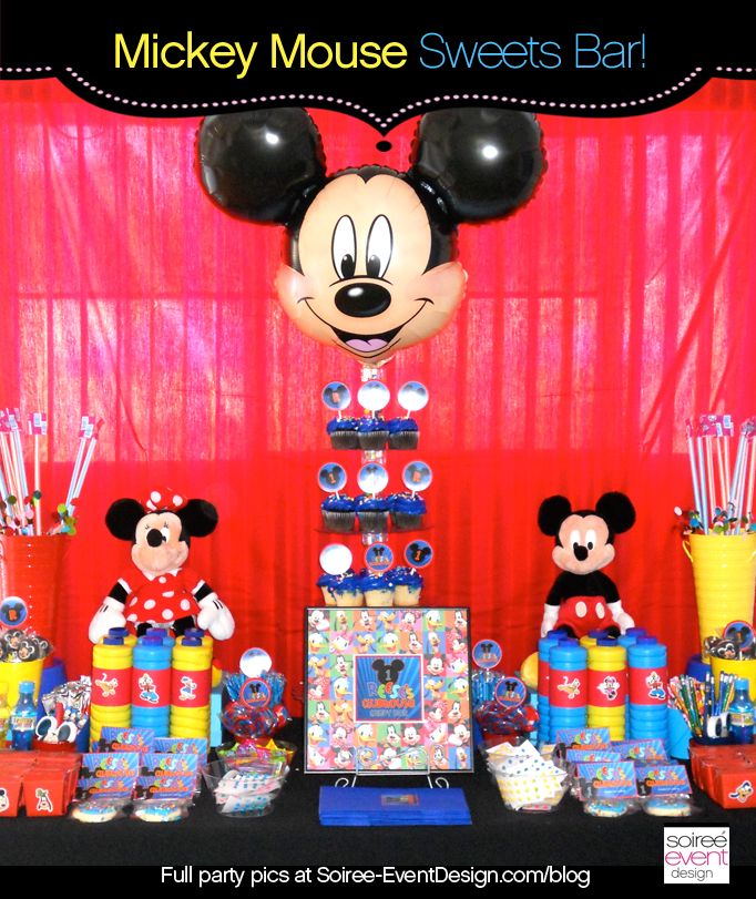 1 YEAR OLD BOY Kara S Party Ideas Mickey Mouse Themed Birthday Planning Character Week
