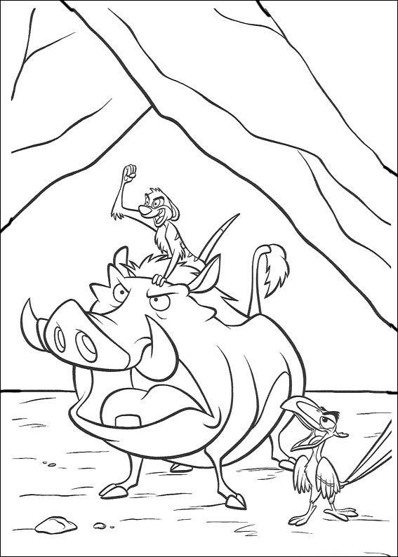 Kleurplaten De leeuwenkoning 29 | coloring pages | Pinterest | El ...