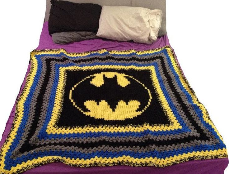 Batman Cushion Knitting Pattern : 19 best Gifts for the Batman fan in your life images on Pinterest Batman lo...