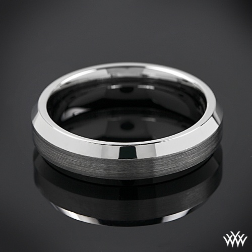 Wedding Ring Bands >> 14k White Gold Benchmark Mirror Edge Wedding Ring | Ring, Weddings and Engagement