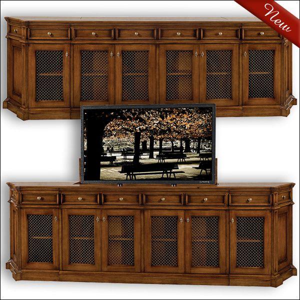 old biscayne designs tv lift cabinet barbara media cabinet 8518c estate of design