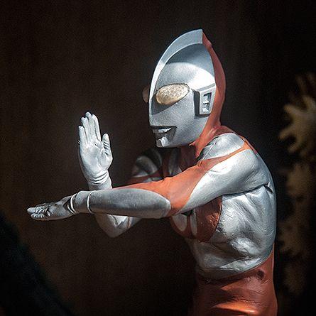 X-Plus Ultraman on the shelf in the sun.
