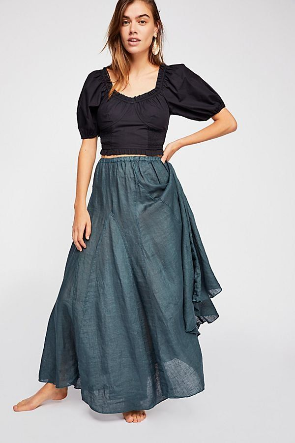 da7db007a8 Lily Linen Maxi Skirt | Skirts | Skirts, Free people, Gray skirt