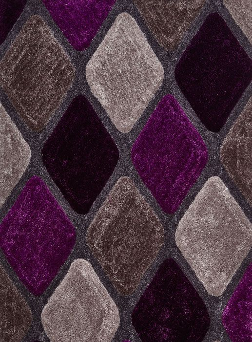 Le House Nh 9247 Grey Purple Rugs From 99 00 Free Uk Delivery Affordable Shaggy Rug Is In