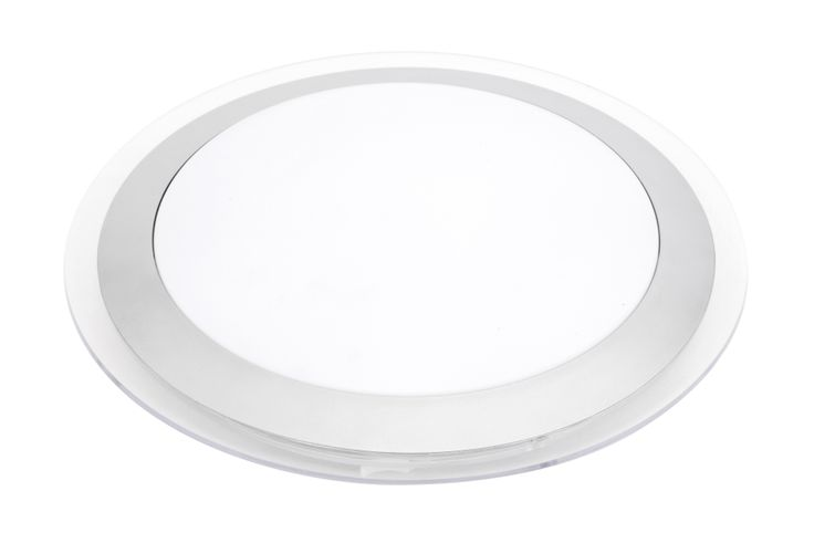 Ricci 22w T5 Round Ceiling Light in Silver