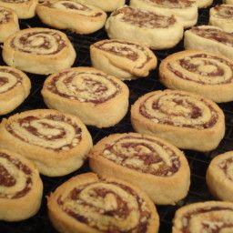 When I worked at a bakery this was one of my favorite cookies. It's a fun Holiday treat and packages well for gift baskets. - Date Nut Pinwheel Cookies