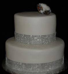 Diamond Wrap Wedding Cake