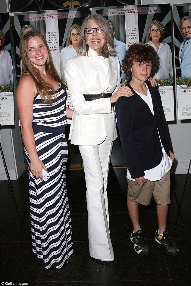 Family fun times: Diane Keaton, who has never married, adopted Dexter and her son Duke, now 15, late in life