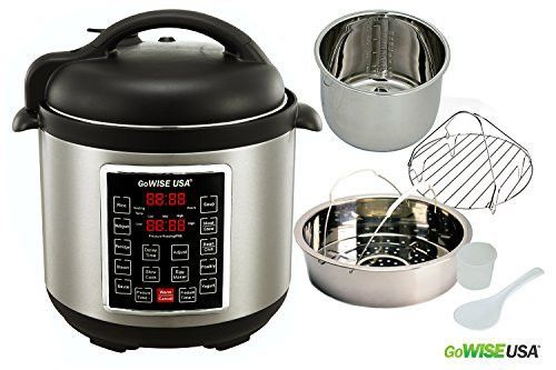 GoWISE USA GW22620 4th-Generation Programmable Pressure Cooker, 6 QT