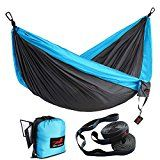 ⚽ #9: Honest Outfitters Single & Double Camping Hammock With Hammock Tree Straps,Portable Parachute Nylon Hammock for… #ad #Fitness