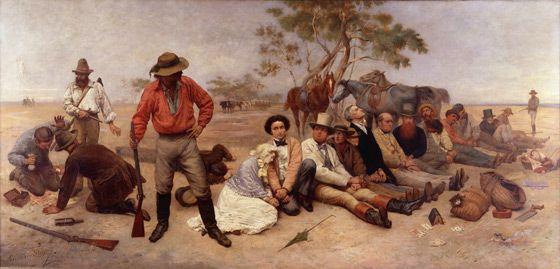 """Bushrangers on the St Kilda Road""...William Strutt 1852"