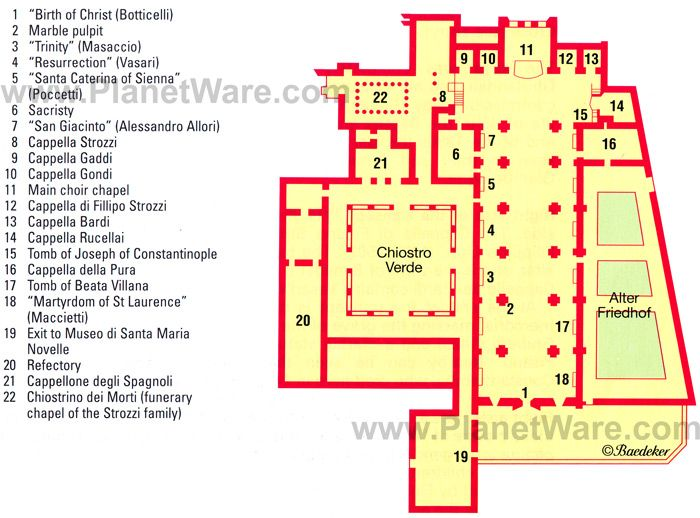Florence santa maria novella floor plan map http www Top rated floor plans