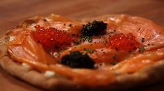 Get the Dish: Wolfgang Puck's Smoked Salmon Pizza: Each year, Hollywood's A-listers are served Wolfgang Puck's signature smoked salmon and caviar pizza at the annual Oscars Governors Ball - and now you have a chance to taste it, too!