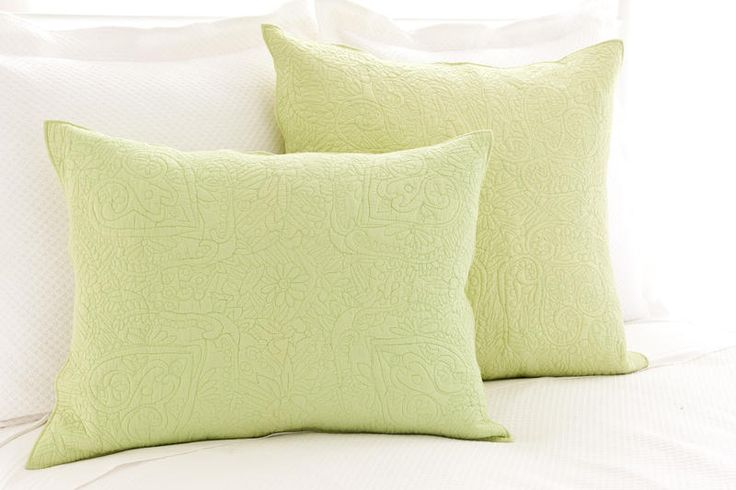 Holly Celery Quilted Sham | Pine Cone Hill Outlet Standard $29 Euro $34