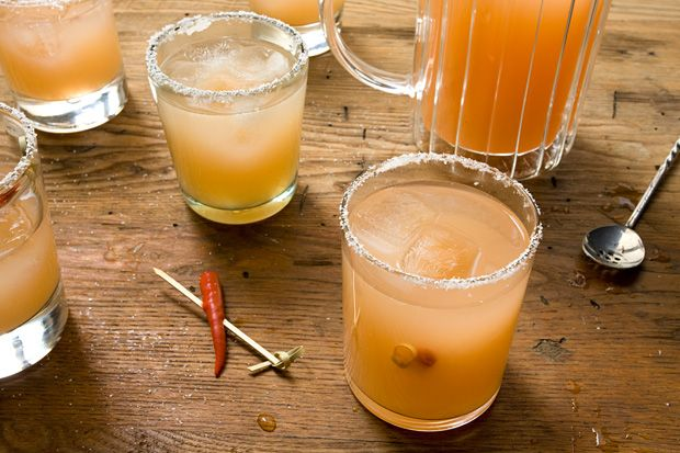 Red Chile–Guava Margarita  80 deg in Denver today, and it's Friday.  This drink should do the trick.