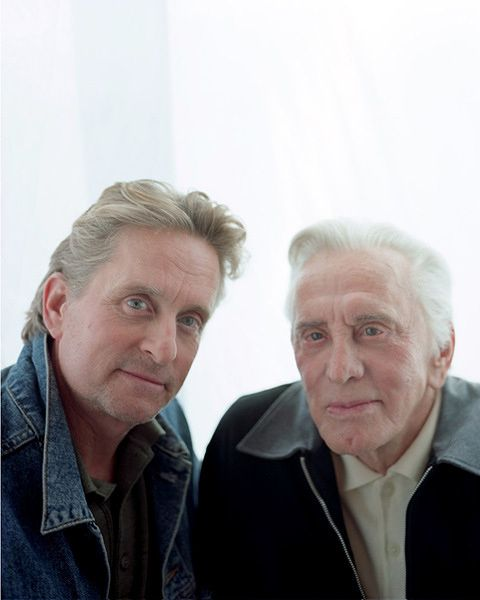 Kirk and Michael Douglas -  Photo by Christian Witkin