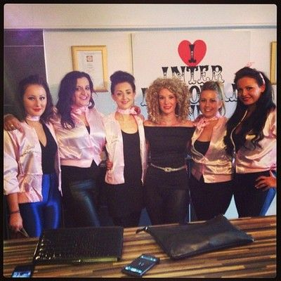 Janes Hen Party look out #Liverpool Sandy and the Pink Ladies are out #iheart #ilove #internationalinn #getinnvolved