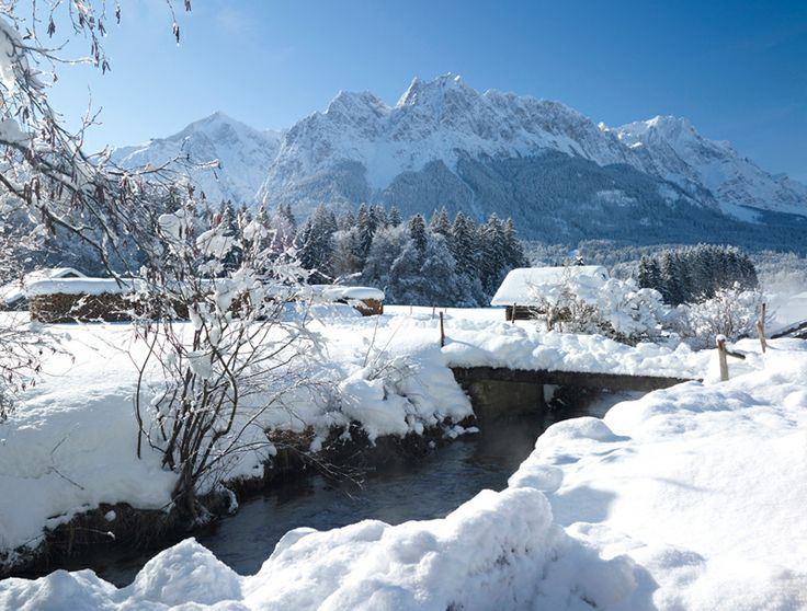 Grainau (Bavaria) it is located at the foot of the Zugspitze mountain, the tallest mountain in Germany www.urlaub-und-reise-news.de