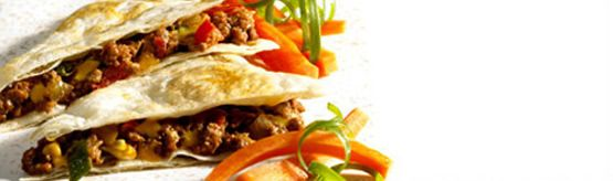 Ground Beef Quesadillas are an easy recipe for a crowd #SuperBowl #LoveCDNBeef #SB48