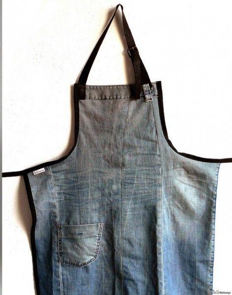 van spijkerbroek tot schort | BelleReDesign | volg een cursus en maak het schort zelf | recycling | www.zook.nl/mode/DIY/cursus-van-trui-tot-lamp