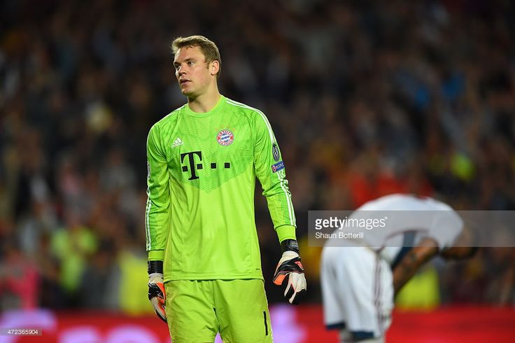 A dejected Manuel Neuer of Bayern Muenchen reacts followinghis team's 3-0 defeat during the UEFA Champions League Semi Final, first leg match between FC Barcelona and FC Bayern Muenchen at Camp Nou on May 6, 2015 in Barcelona, Spain.