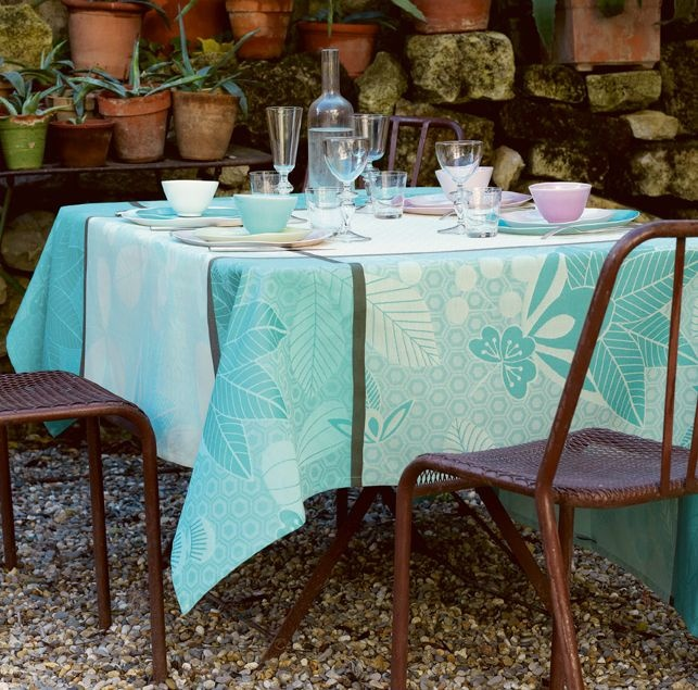 Coated French Jacquard Tablecloth From 2012 Spring Collection, Le Jacquard  Francais @ R.h. Ballard
