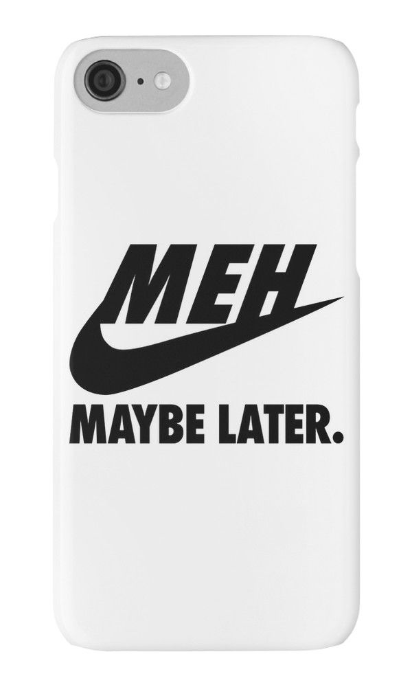 """MEH maybe Later."" iPhone Cases & Skins by KeiraShabira 