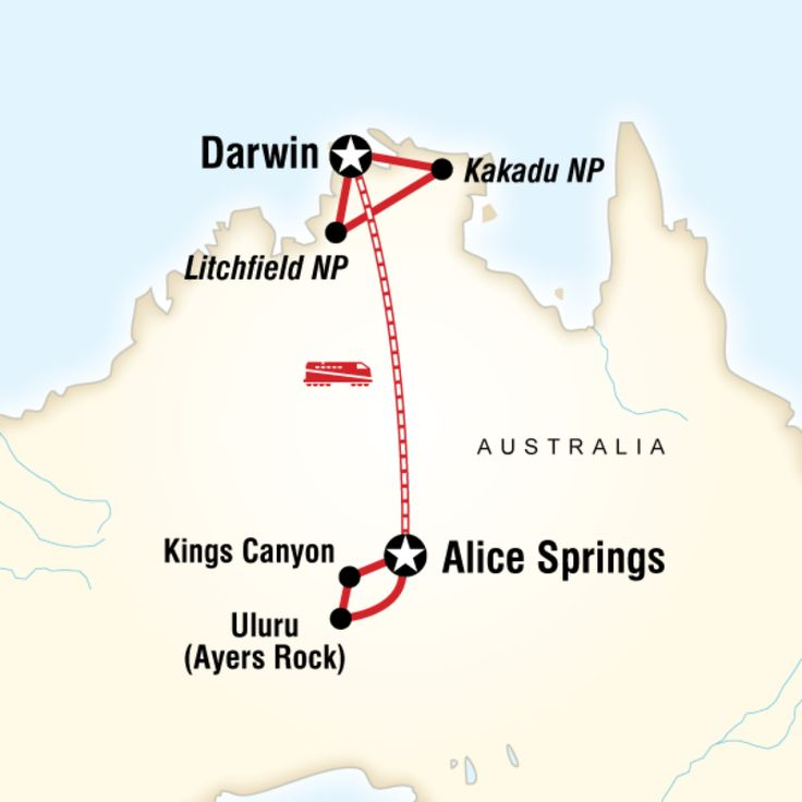 Witness the majesty of Uluru at sunset and sunrise, hike the Red Centre, stargaze at the impressive Southern sky, ride the route of Afghan cameleers on The Ghan Train, learn about Aboriginal creation time stories, explore the UNESCO World Heritage Site of Kakadu National Park.