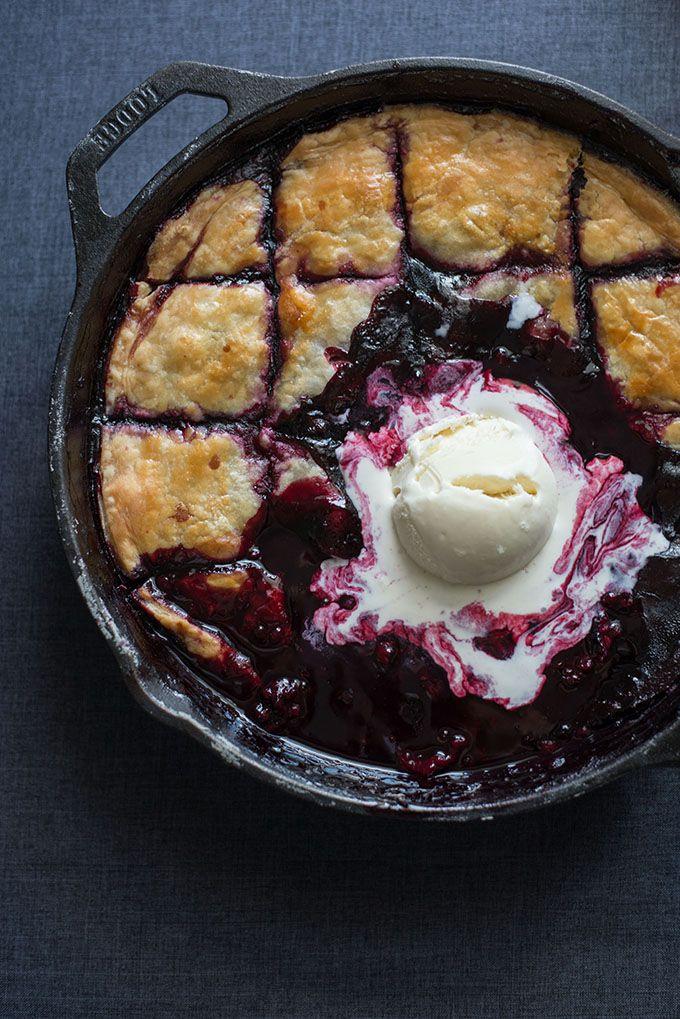 Merlot Boysenberry Pandowdy | siftandwhisk.com