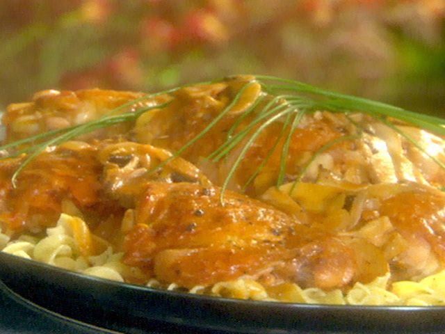Braised Chicken Thighs with Button Mushrooms Recipe : Emeril Lagasse : Food Network - FoodNetwork.com