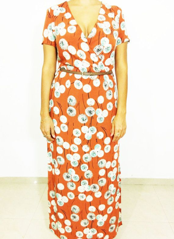 HANDMADE FLORAL Dress/ Print dress/ Maxi dress/ by SubCollection