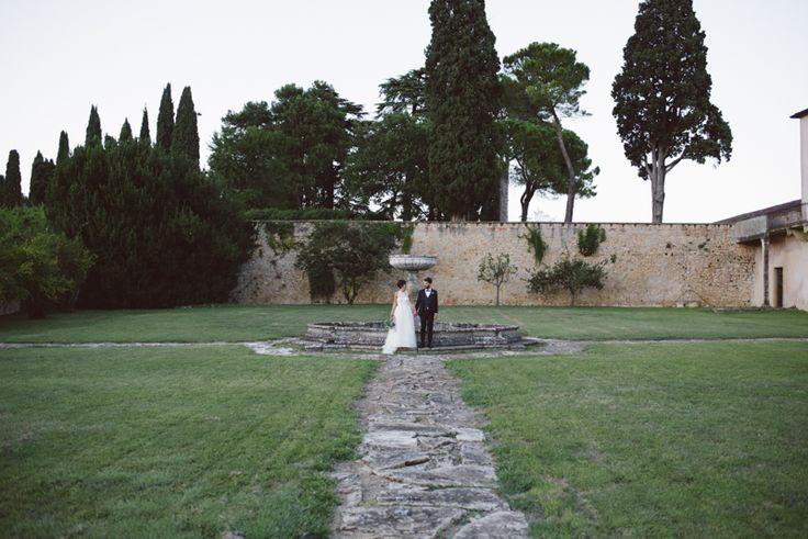 in matrimonio in Veneto di Luisa e Luca: una splendida Villa palladiana affacciata sui Colli Euganei, una cena sotto le stelle e musica fino all'alba!