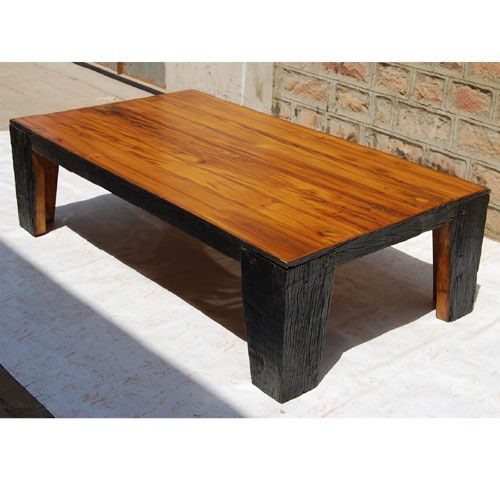 Rare And Unique Rustic Railroad Ties Large Heavy Cocktail Sofa Coffee Table.  Entirely Handmade From Old Railroad Ties Wood To Give The Antique  Appearance.