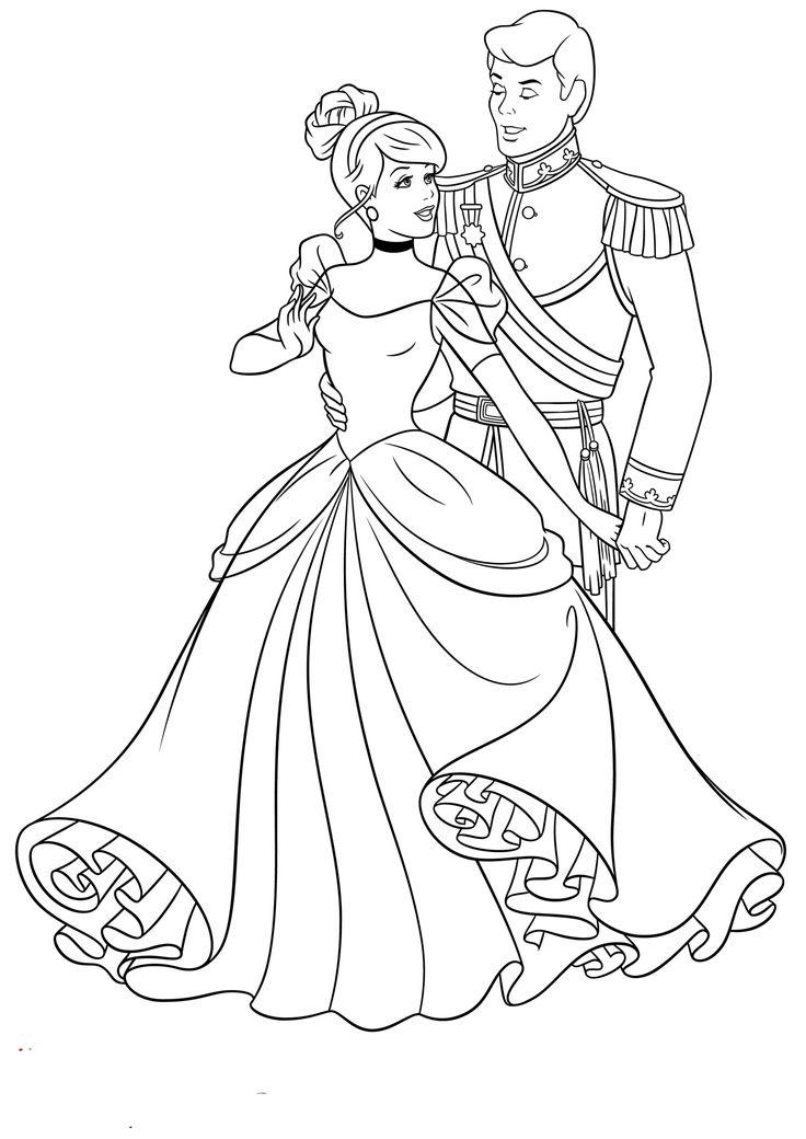Ausmalbilder Prinzessin Cinderella Cinderella Coloring
