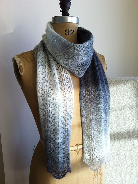 Ravelry: Feather and Fan Short Scarf pattern by Kelly Faller