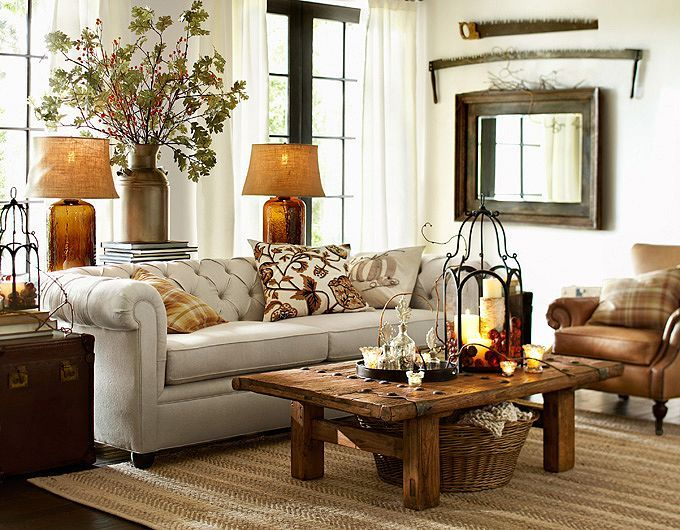 28 elegant and cozy interior designs by pottery barn - Home Decorating Living Room Ideas