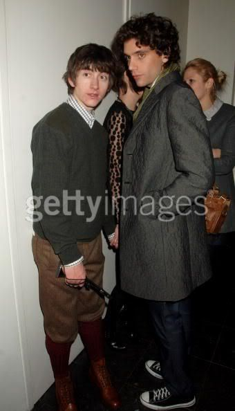Mika w/ Alex Turner of Arctic Monkeys Brits 2008 after party