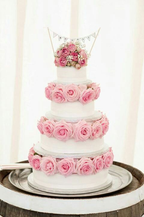 My marks & spencers wedding cake decorated by sarah from stems florist