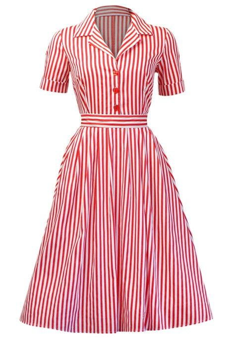 50s vintage audrey hepburn pinup style rockabilly half sleeve stripe Dress,party dress,housewife dress,cute dress
