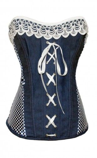 Womens Denim Corset Top