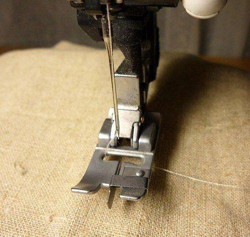 Потайной шов на швейной машинке