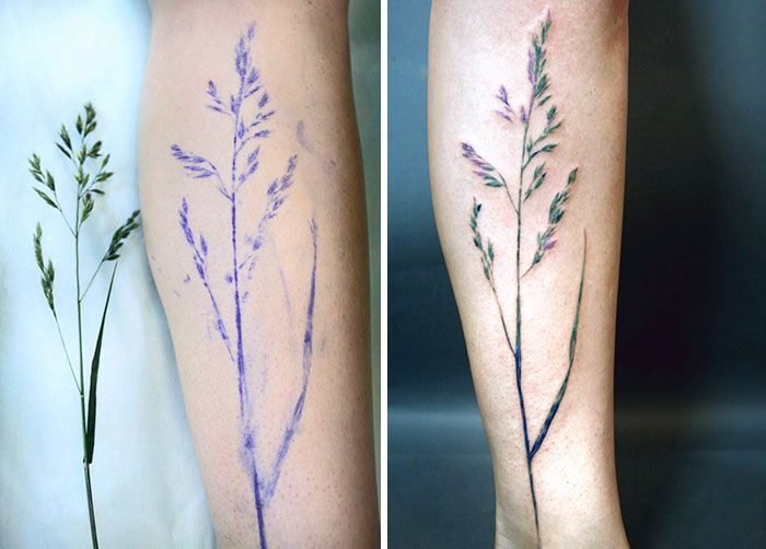 Les tatouages empreintes botaniques de Rita Zolotukhina  2Tout2Rien