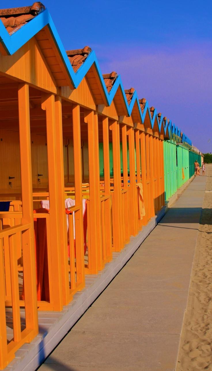 Forte dei Marmi, Italy, where my love of beach huts began.
