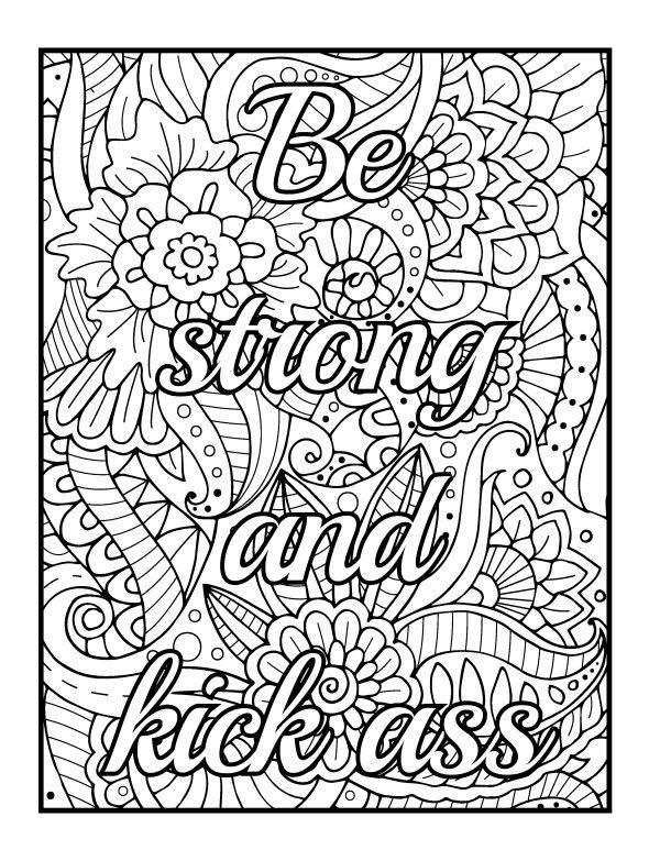 Swear Word Coloring Pages - Best Coloring Pages For Kids Words Coloring  Book, Swear Word Coloring Book, Detailed Coloring Pages