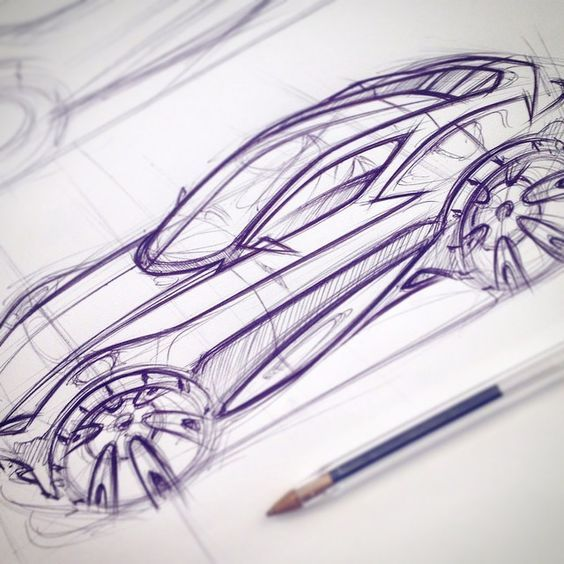Early concept development sketch for my major project #ford #notashootingbrakeyet #conceptcar #sketch #automotivedesign #cardesign #uwtsd #novus15:
