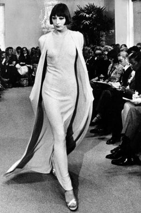 Halston Fashions Anjelica Huston 1972