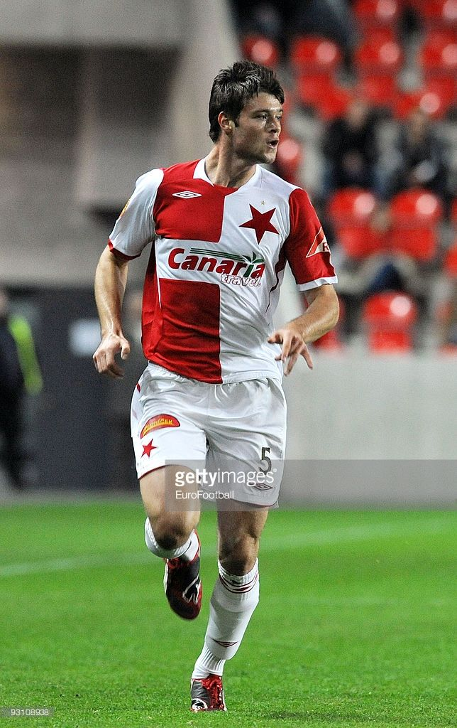 Ondrej Celustka of SK Slavia Praha during the Gambrinus Liga match between SK Slavia Praha and SK Sigma Olomouc held on October 26, 2009 at the Stadion Eden, in Prague, Cezch Republic.