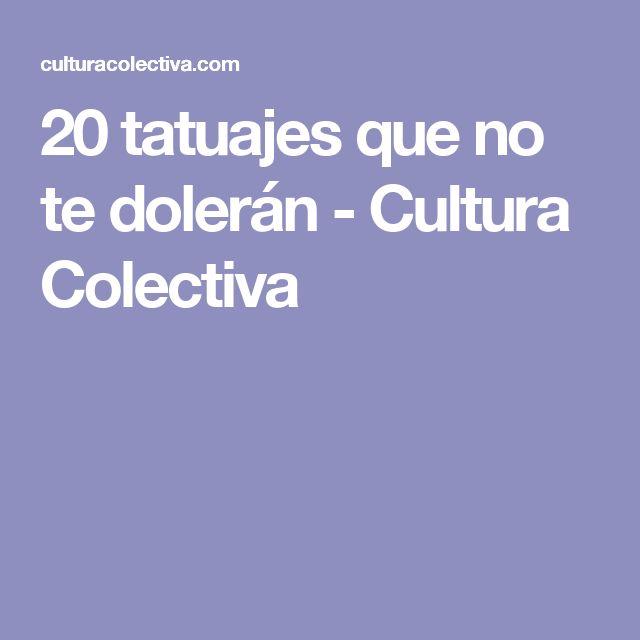 20 tatuajes que no te dolerán - Cultura Colectiva