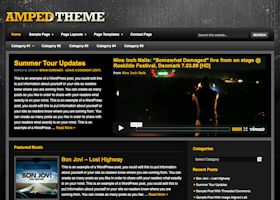 Wordpress theme Amped. Smarter Websites fully customises each theme to suit your business.
